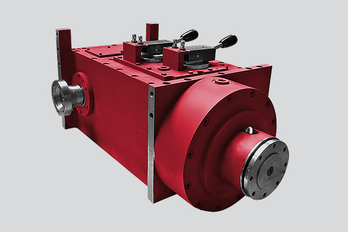 Custom gearboxes for testing friction pads