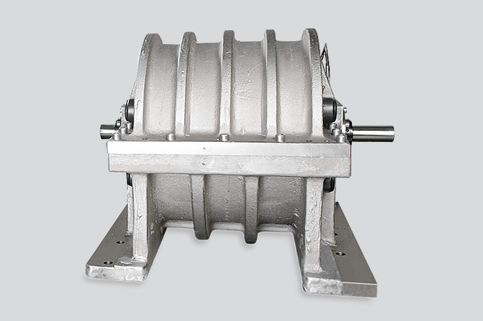 Flywheel at a test bench gearbox