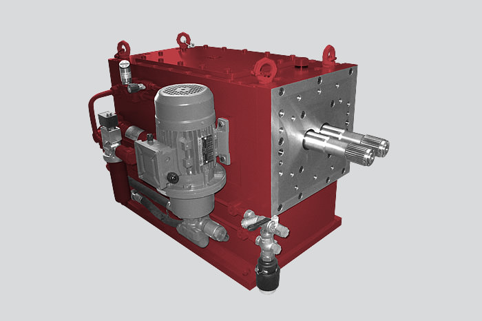 Gearbox for twin-screw extruder